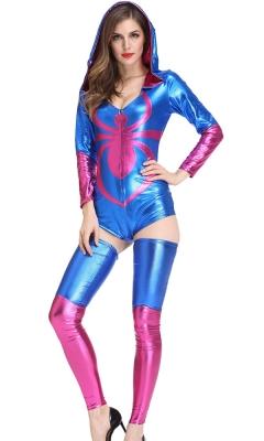 Spider Pattern Sexy Bodysuit