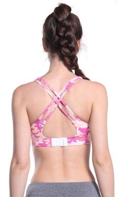 Colorful Tie Dye Print Strappy Sports Bra