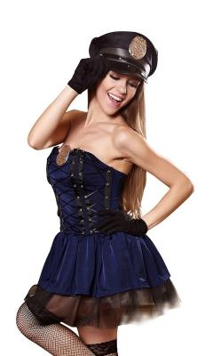 Flirty Cop Corset Costume