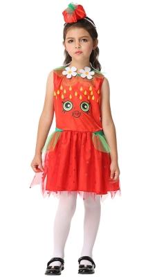 Hot lovely flower decoration dress