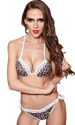 Leopard Print Strapped String Bikini